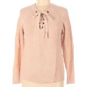 NWOT It's Our Time Pink Tie Up Sweater